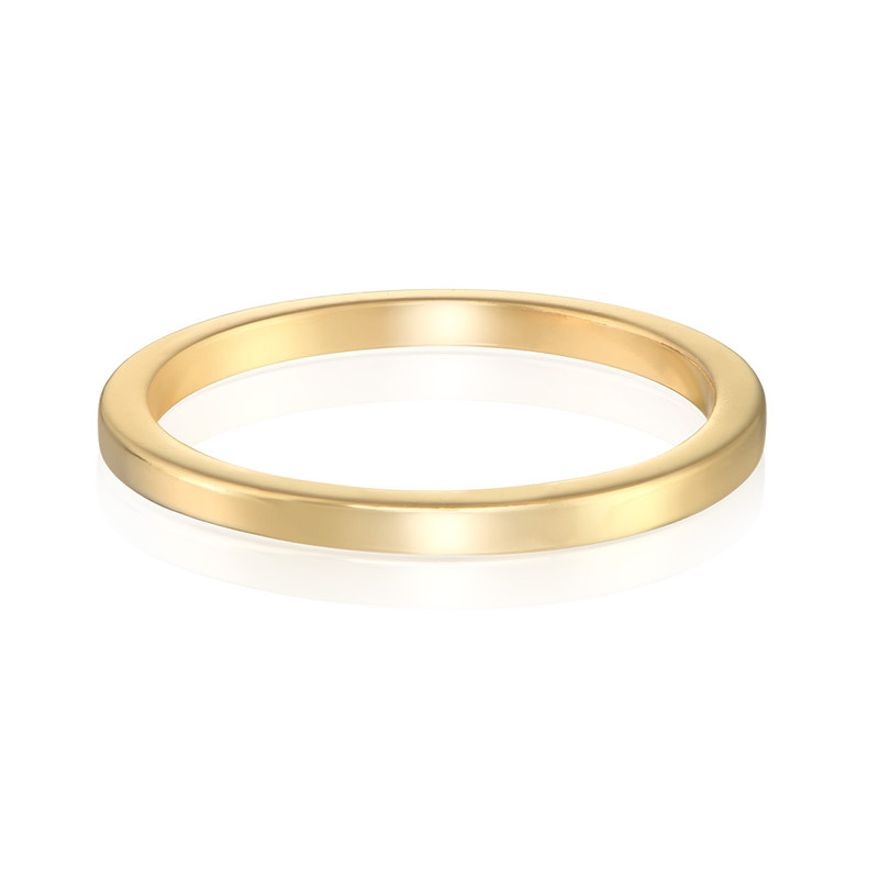 18K Gold Plated Stackable Minimalist Ring - 1