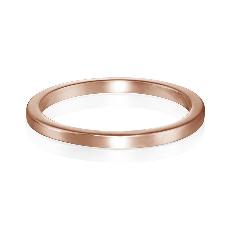 18K Rose Gold Plated Stackable Minimalist Ring - 1