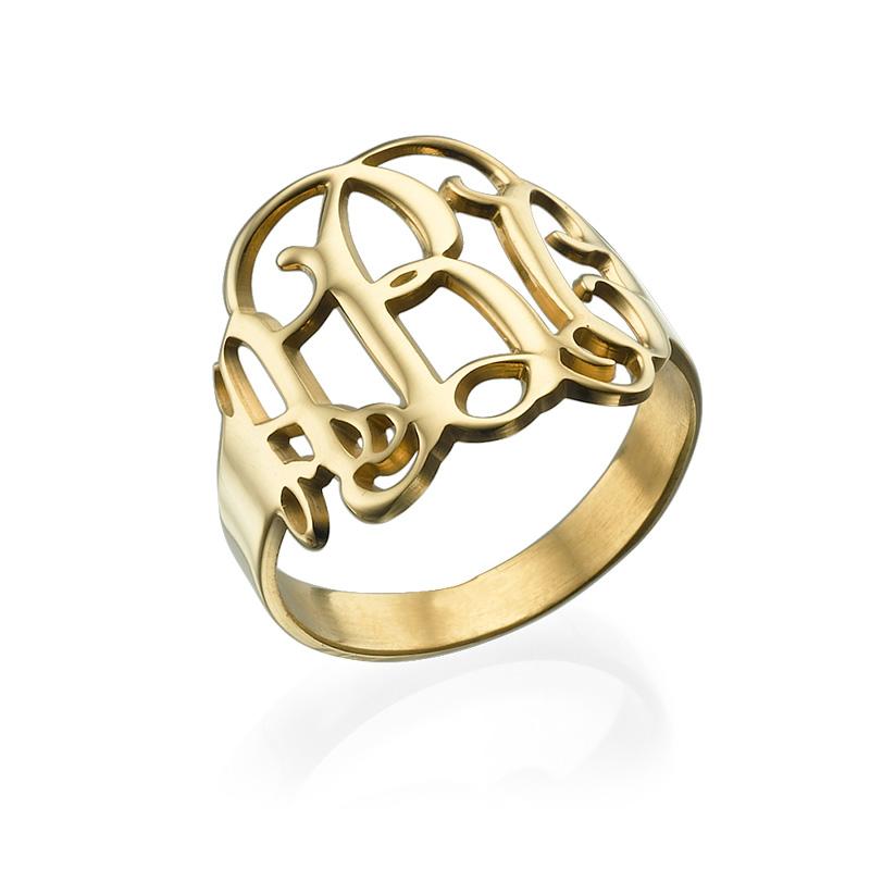 Monogram Ring - 18k Gold Plated