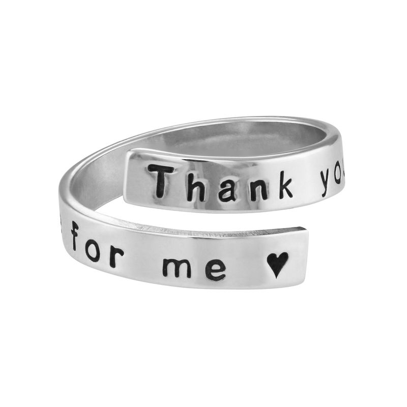 Engravable Ring Wrap in Sterling Silver - 1