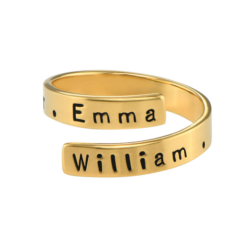 Engravable Ring Wrap in Gold Plating - 1