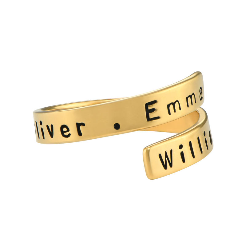 Engravable Ring Wrap in Gold Plating - 2