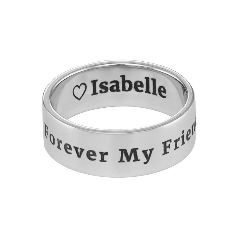 Personalized Wide Name Ring in Silver - 1