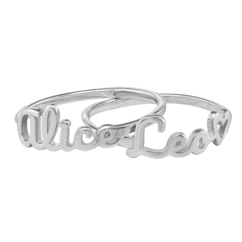 Script Name Ring in Silver - 1