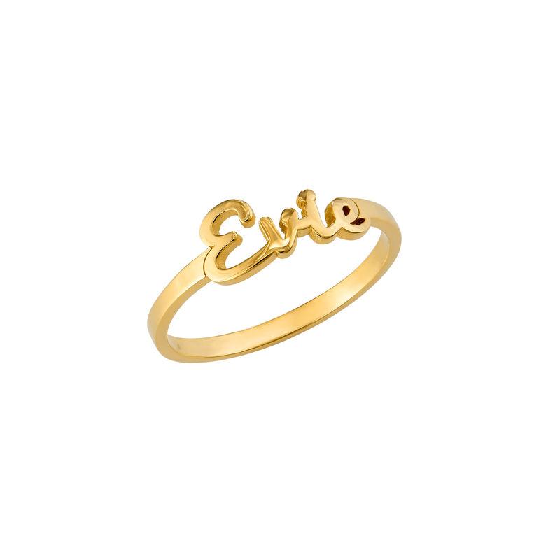 Script Name Ring in Gold Vermeil