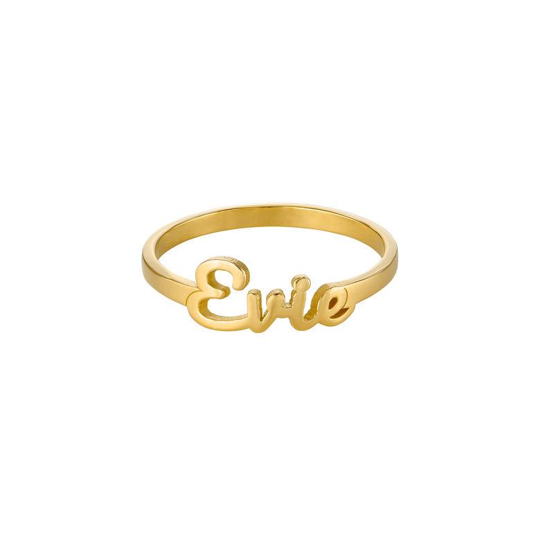 Script Name Ring in Gold Vermeil - 1
