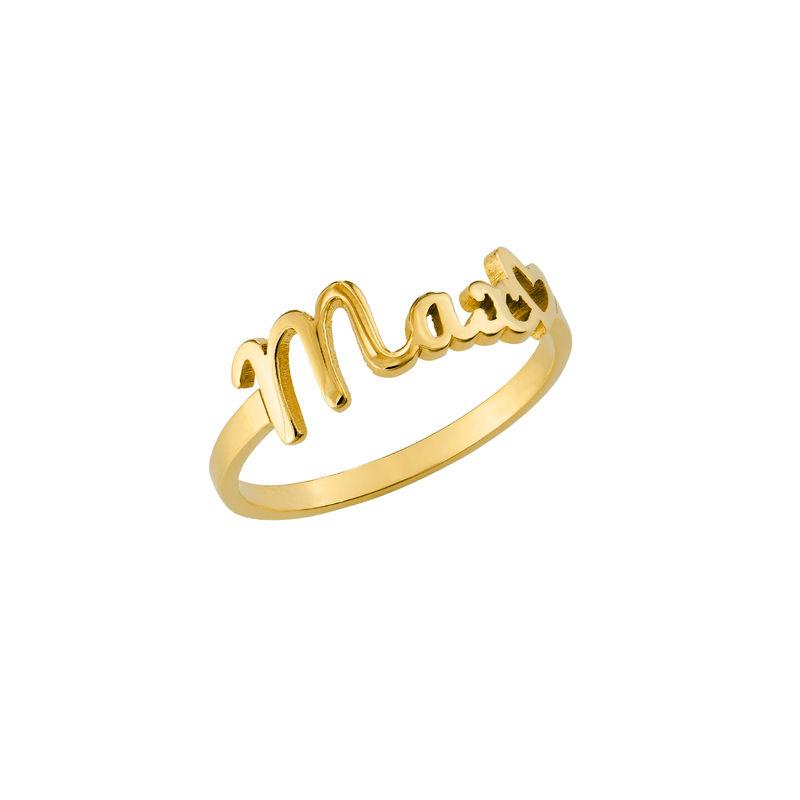 Script Name Ring in Gold Vermeil - 2