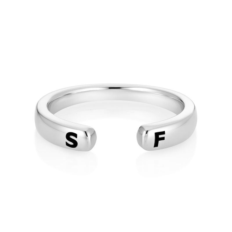 Custom Stacking Open Ring in Sterling Silver - 1