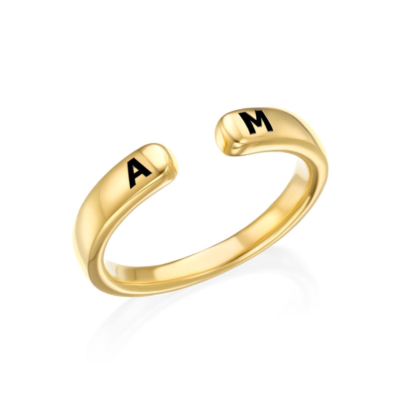 Custom Stacking Open Ring in Gold Plating - 1