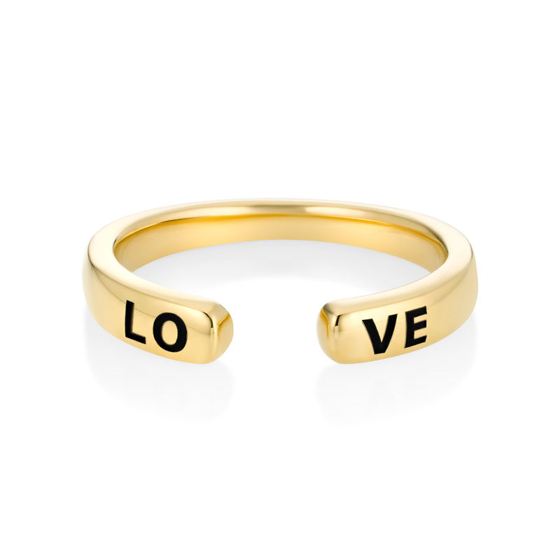 Custom Stacking Open Ring in Gold Plating - 2