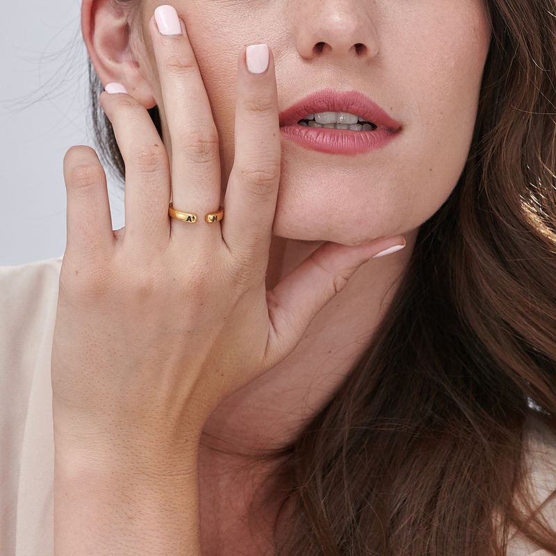 Custom Stacking Open Ring in Gold Vermeil - 4