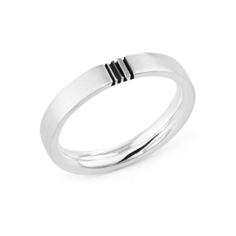 Matching Initial Couple Rings Set in Silver - 2