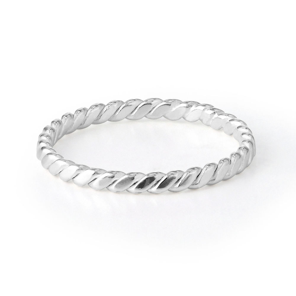 Dainty Braided Ring in Sterling Silver