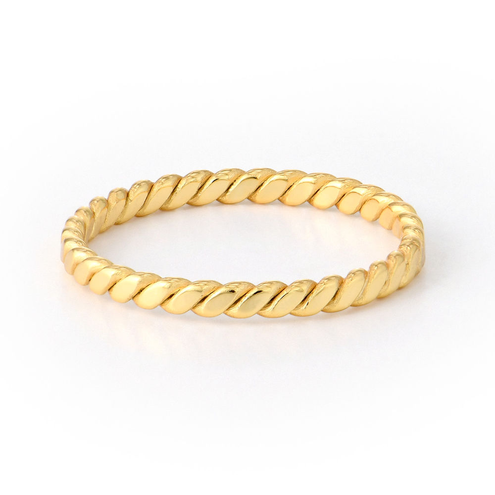 Dainty Braided Ring in Gold Plating