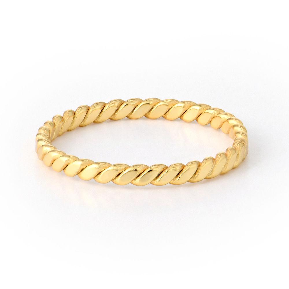 Dainty Braided Ring in Gold Vermeil