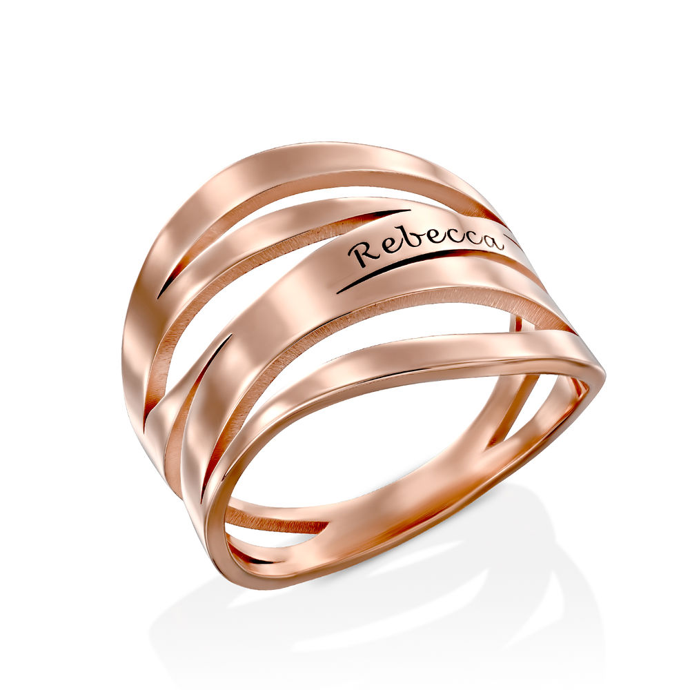 Margeaux Custom Ring in Rose Gold Plating