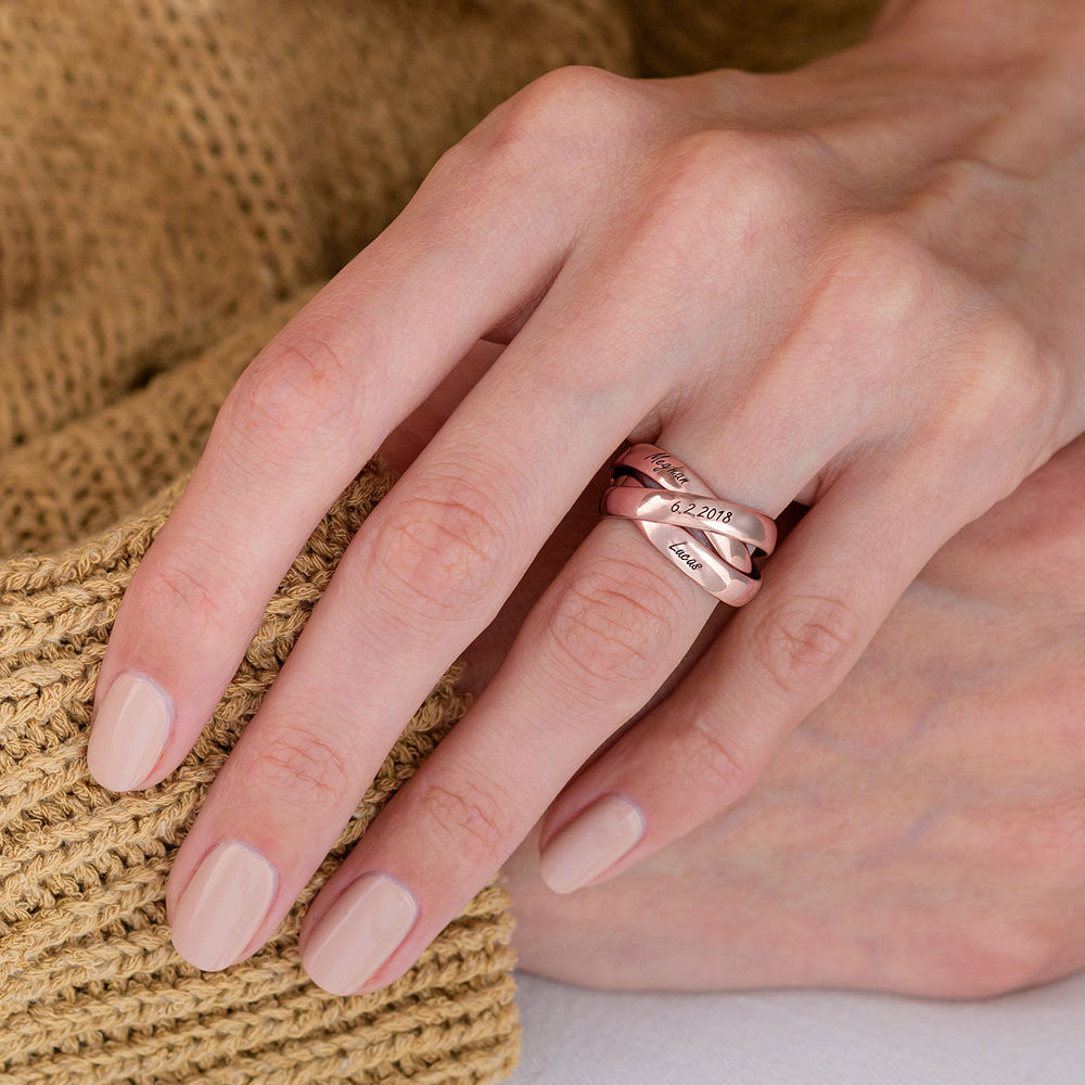 Charlize Russian Ring in Rose Gold Plating - 4