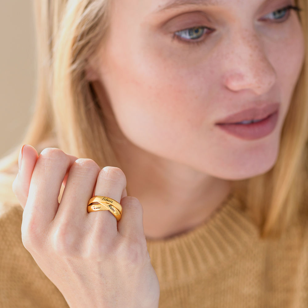 Charlize Russian Ring in Gold Vermeil - 3