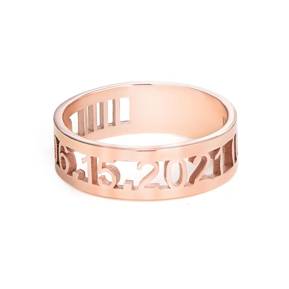 Custom Graduation Ring with Diamond in Rose Gold Plating - 1