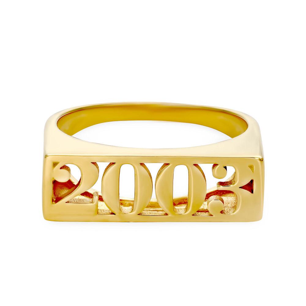 Block Name Ring in Gold Plating - 1