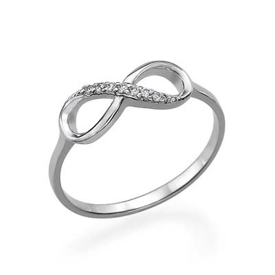 Silver Infinity Ring with Cubic Zirconia