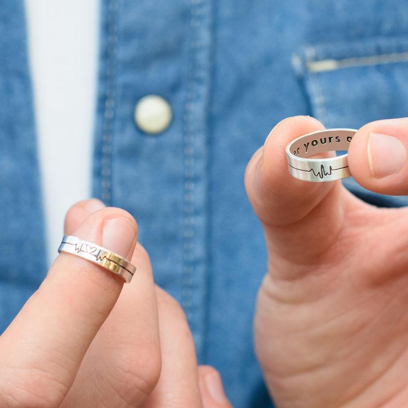 Heartbeat Couple Rings - 5
