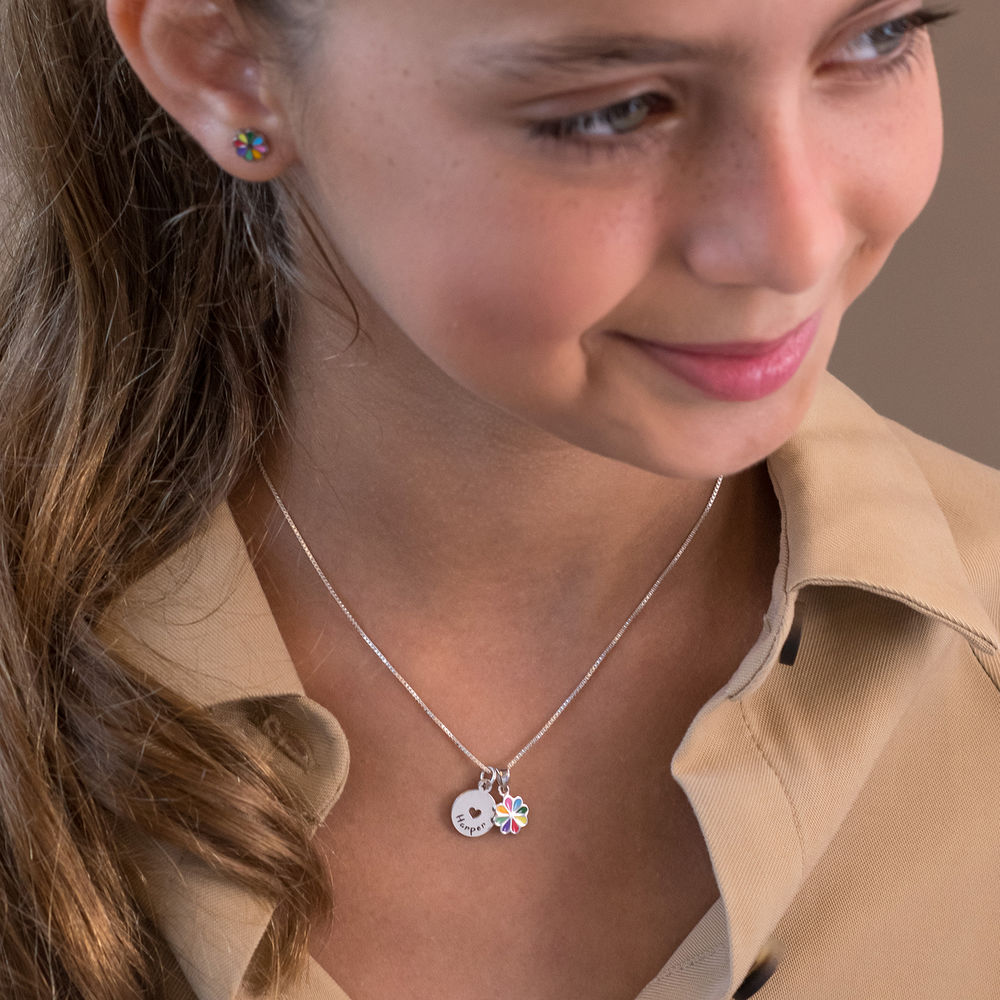 Flower Jewelry Set for Girls in Sterling Silver - 2