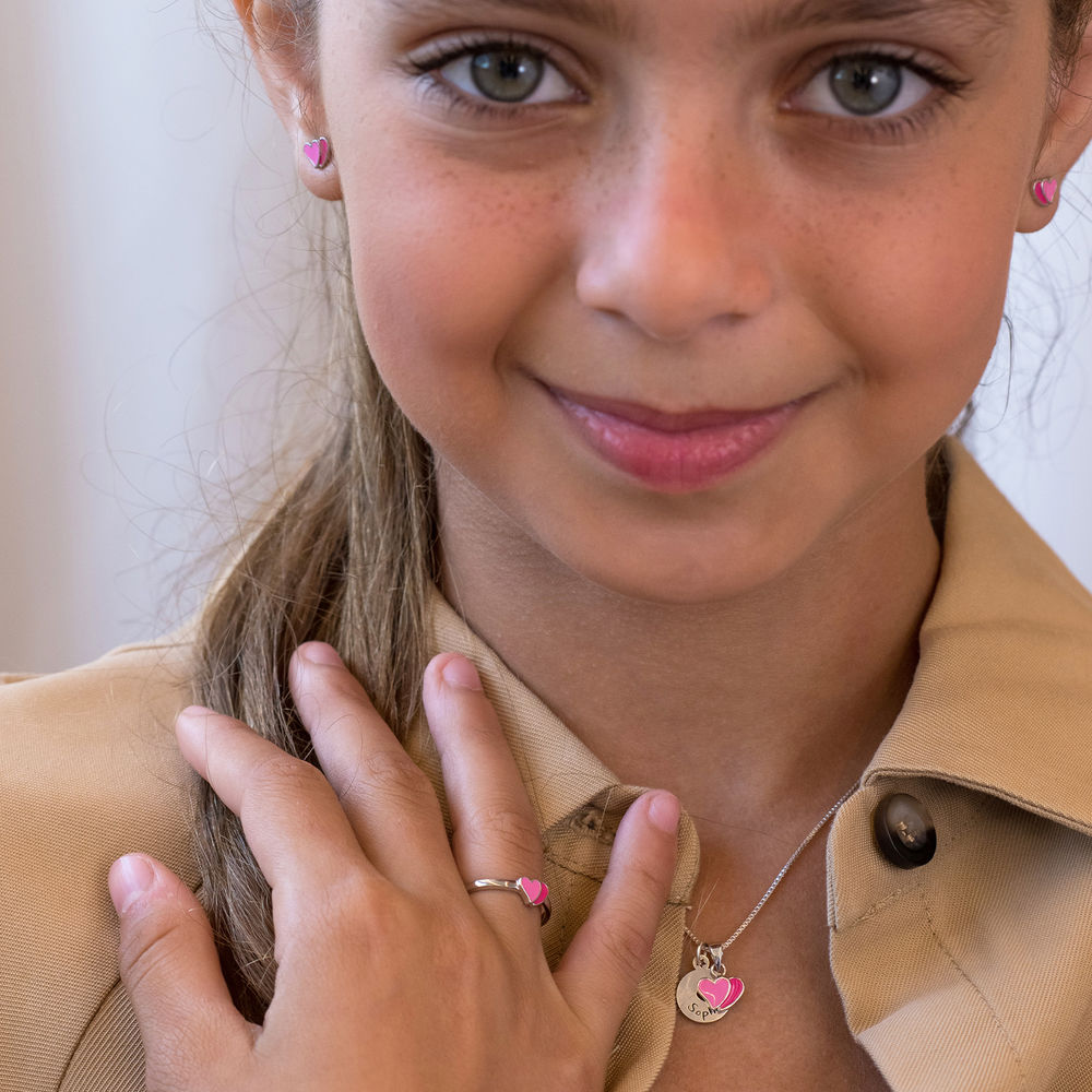 Heart Jewelry Set for Girls in Sterling Silver - 2