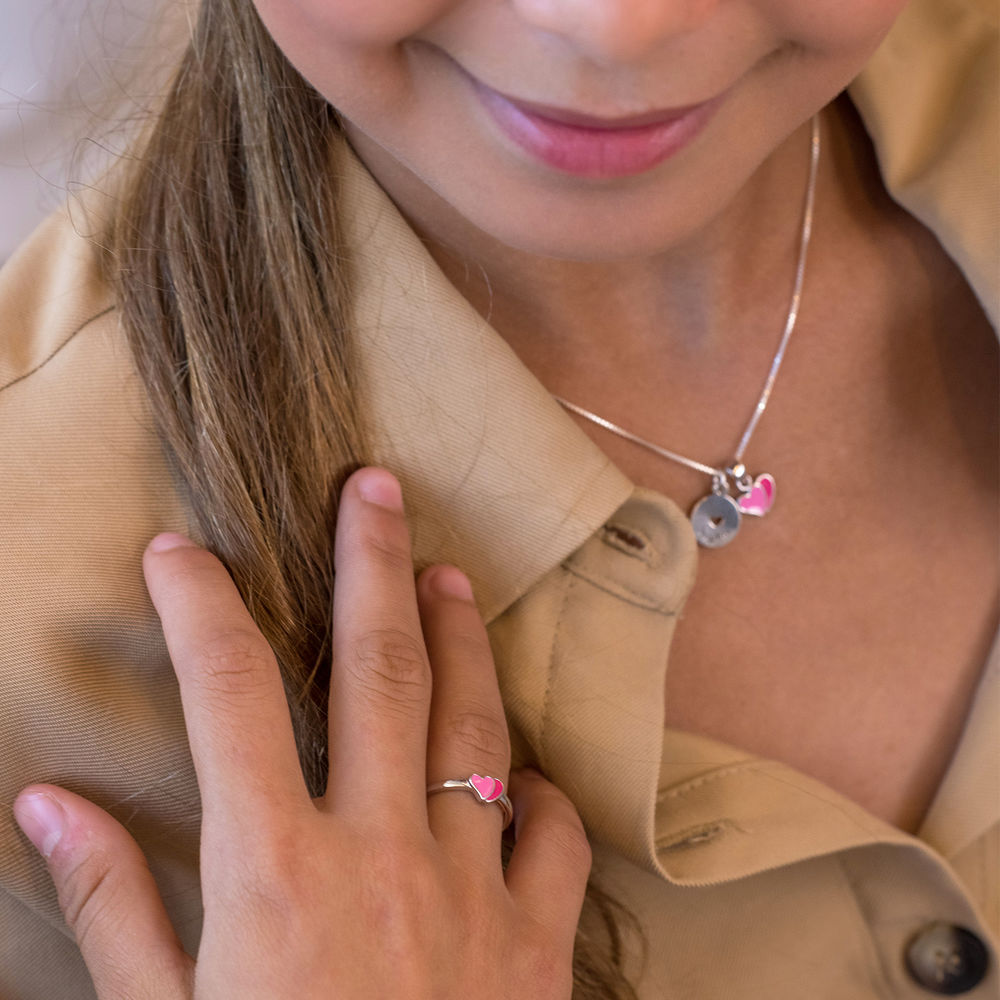 Heart Jewelry Set for Girls in Sterling Silver - 3