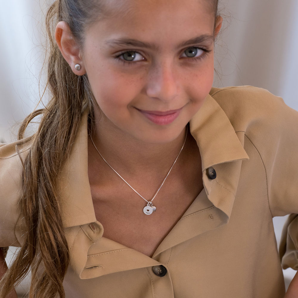 Shell Jewelry Set for Girls in Sterling Silver - 1