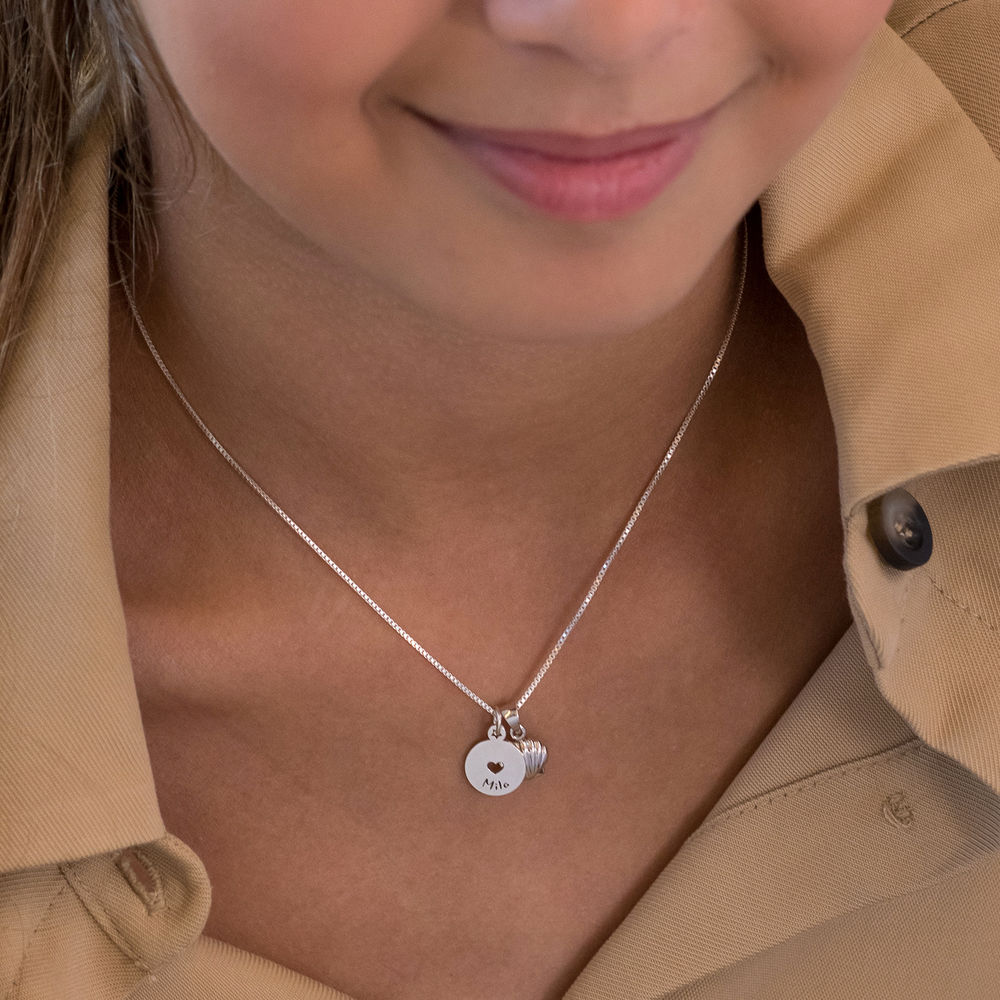 Shell Jewelry Set for Girls in Sterling Silver - 2