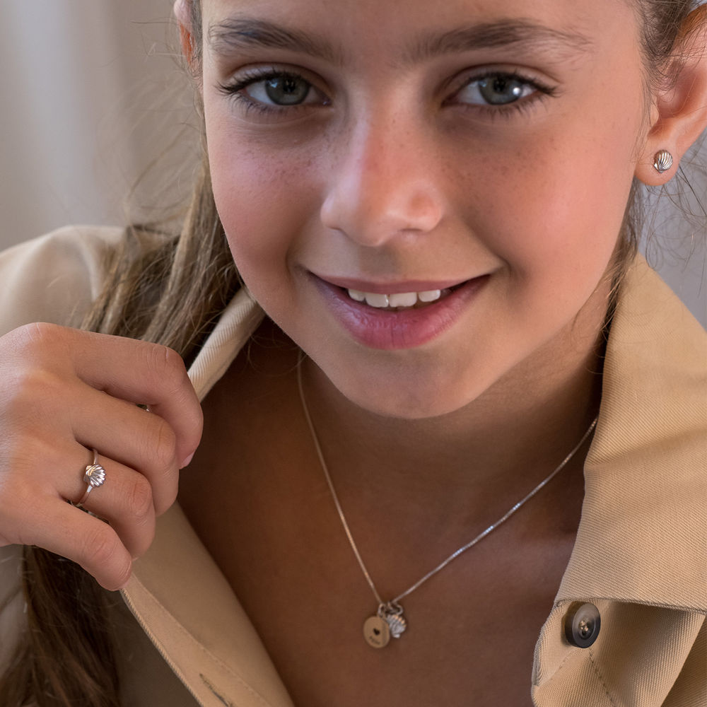 Shell Jewelry Set for Girls in Sterling Silver - 3