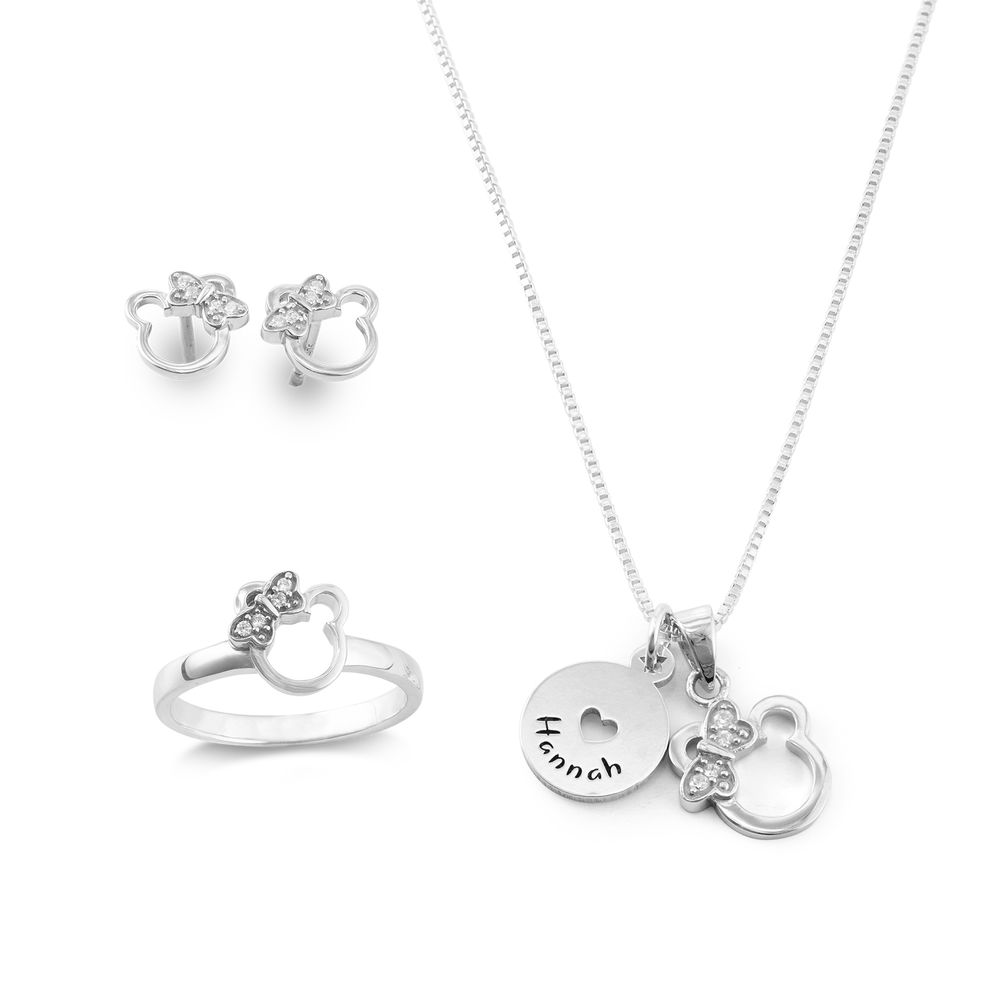 Bear Jewelry Set for Girls in Sterling Silver