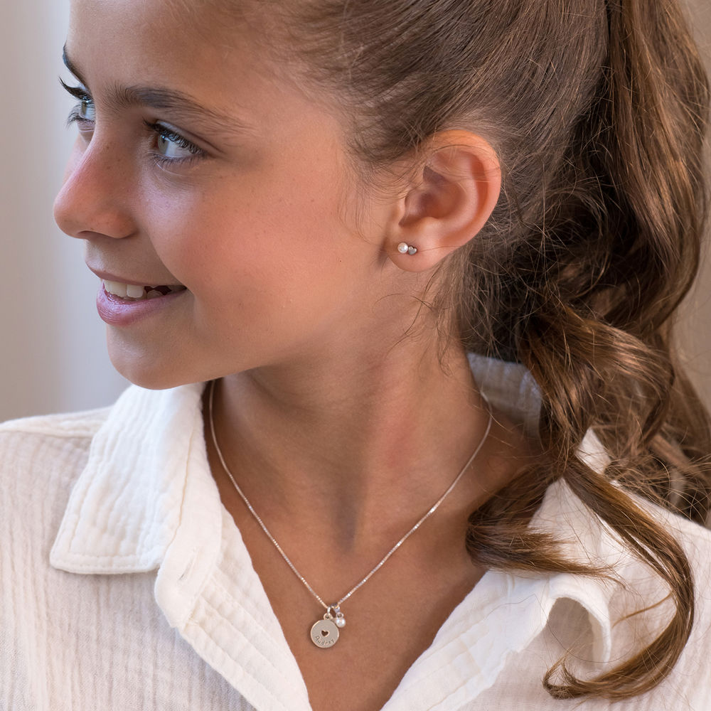 Pearl Jewelry Set for Girls in Sterling Silver - 1