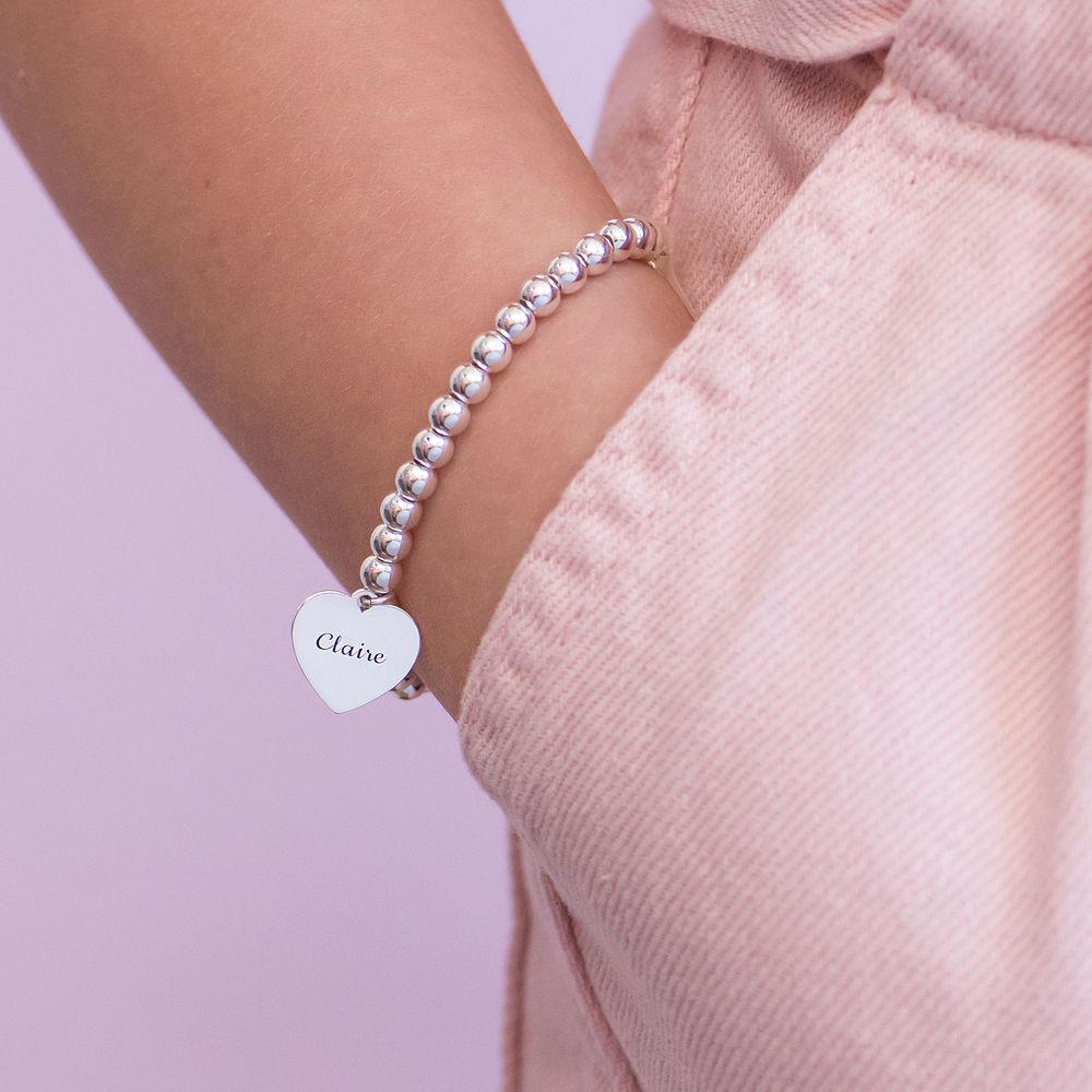 Mother Daughter Heart Bracelets Set in Sterling Silver - 1