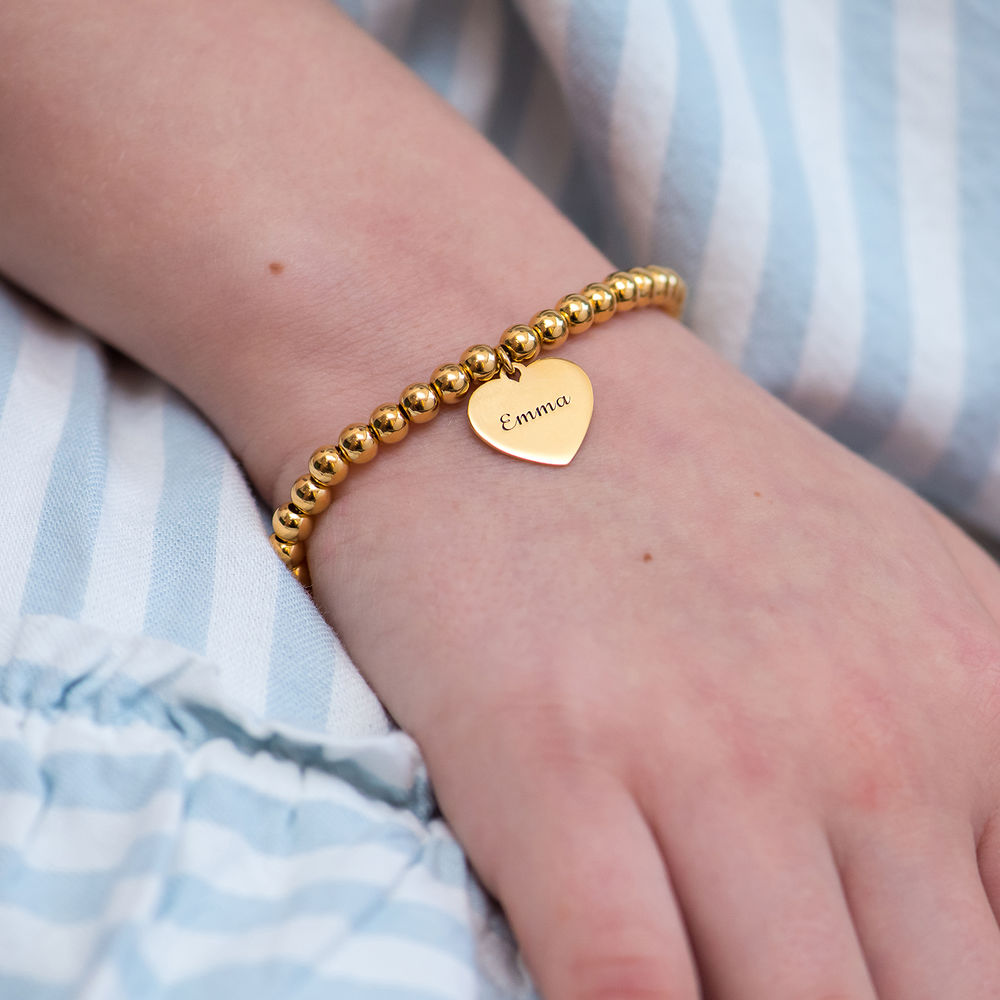 Mother Daughter Heart Bracelets Set in 18K Gold Plating - 1