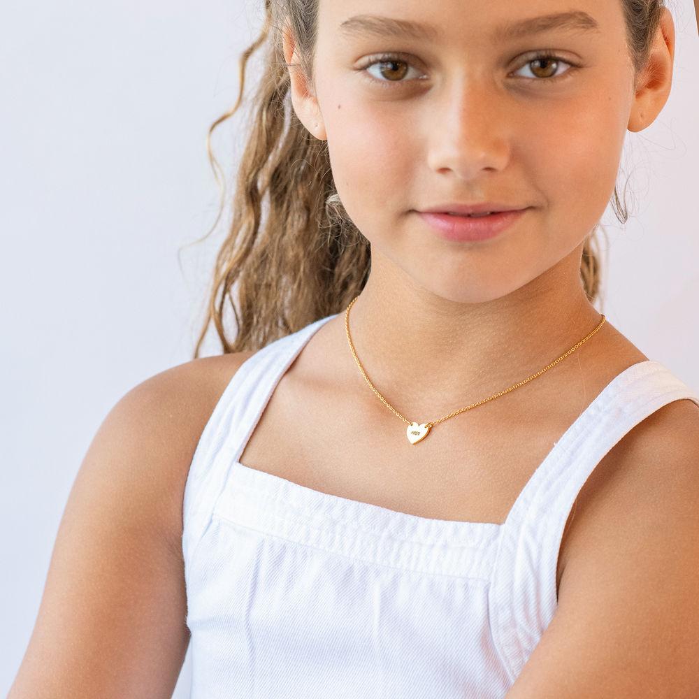 Mother Daughter Heart Necklace Set in 18K Gold Plating - 1