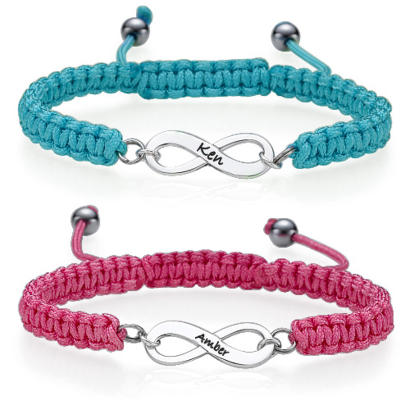 Infinity Couples Bracelet Set