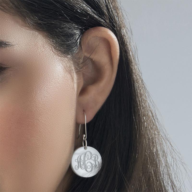 Dangling Acrylic Monogram Earrings - 2