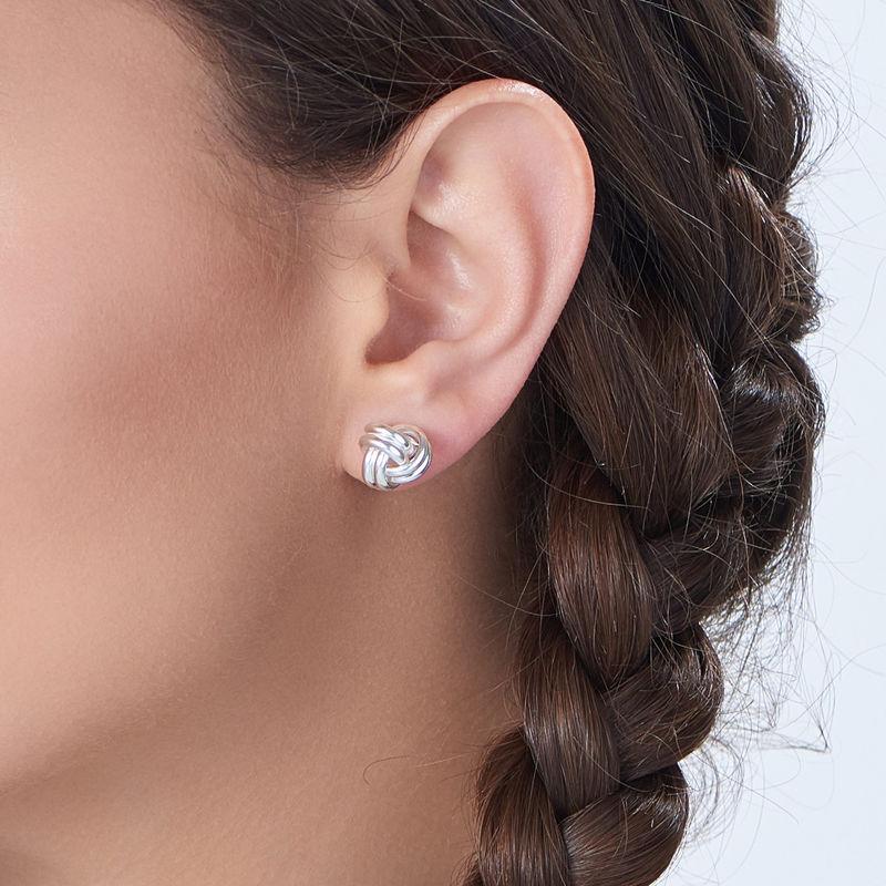 Love Knot Earrings in Sterling Silver - 1