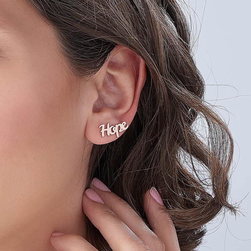 Personalized Ear Climbers with 18K Rose Gold Plating - 3