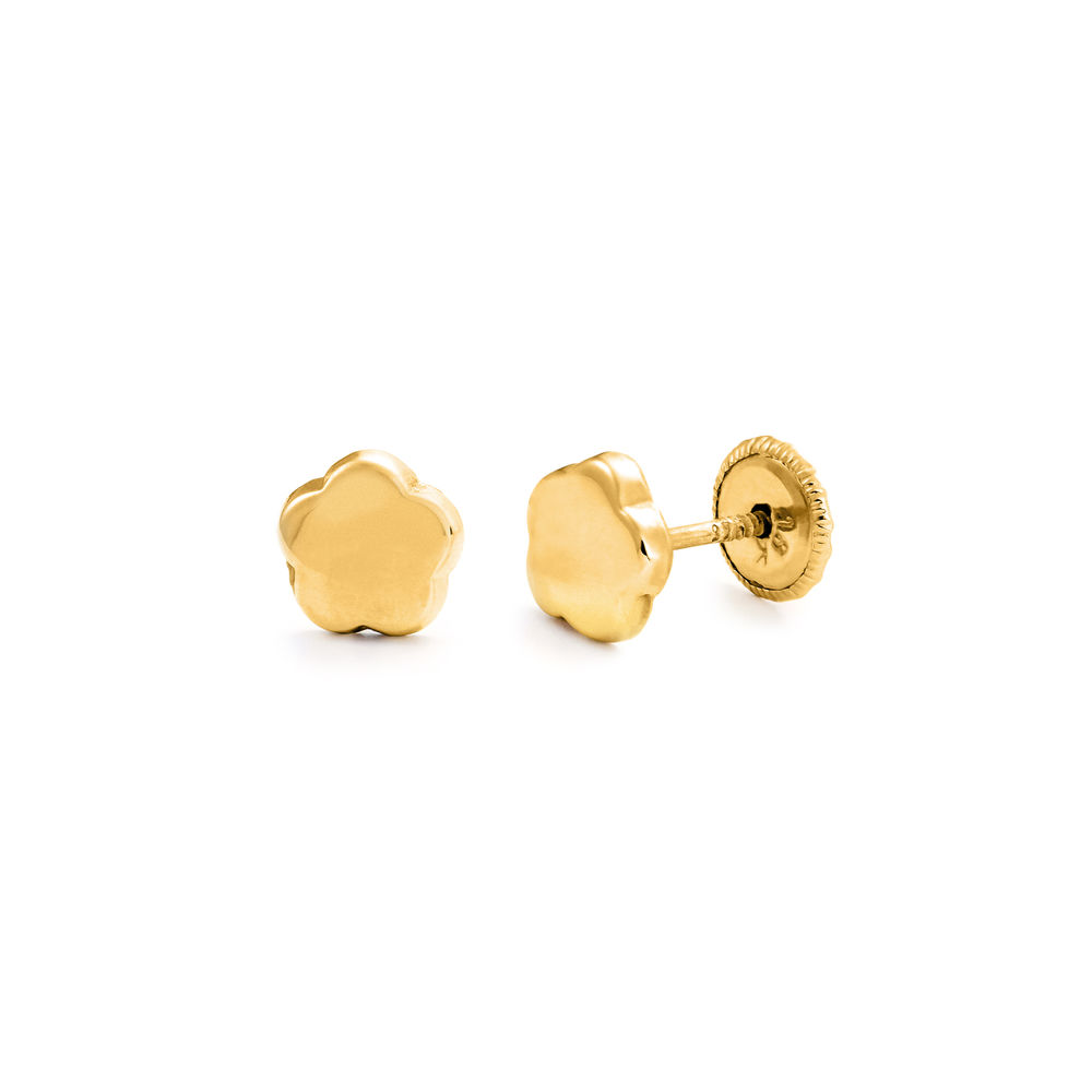 Little Girl 10k Gold Stud Earrings