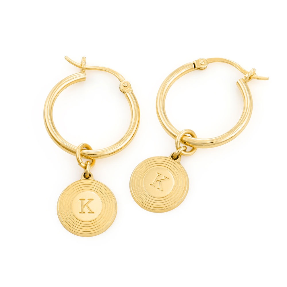 Odeion Initial Earrings in 18K Gold Plating