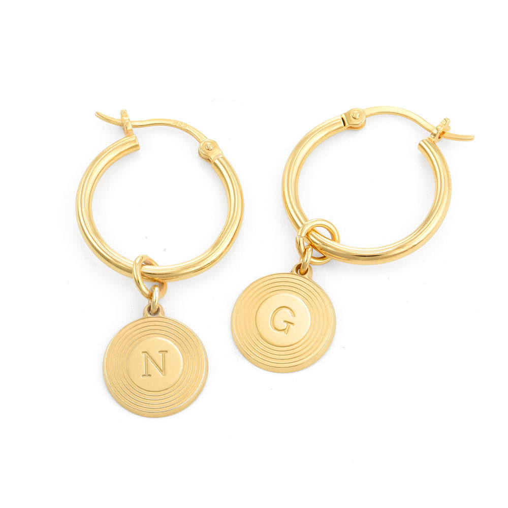 Odeion Initial Earrings in Vermeil