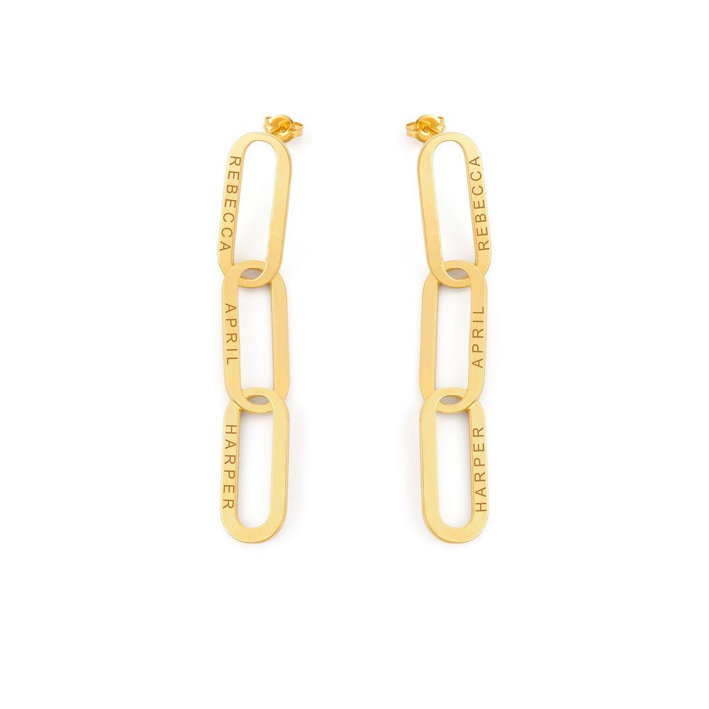Aria Link Chain Earrings in Vermeil