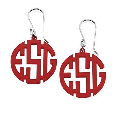 Monogram Acrylic Earrings - 2