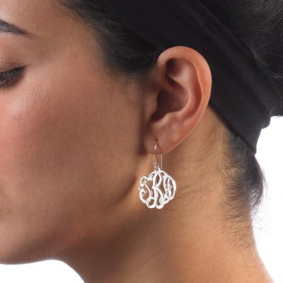 Premium Monogram Earrings - 1