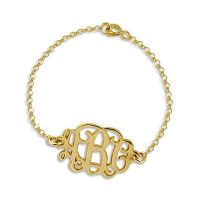 Mix and Match Monogram Necklace and Bracelet Set - 2