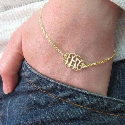 Mix and Match Monogram Necklace and Bracelet Set - 4