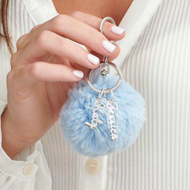 Custom Pom Pom Keychain - 2
